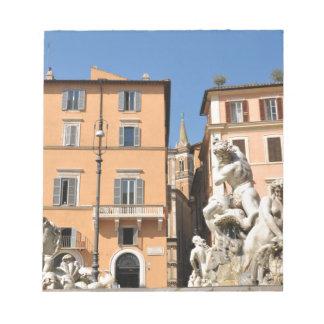 Architecture italienne dans Piazza Navona, Rome, Bloc-note