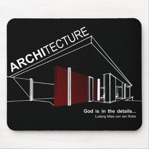 Architecture mies van der rohe tapis de souris zazzle for Surface minimum bureau code du travail