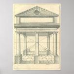 Architecture vintage, portique romain avec des col