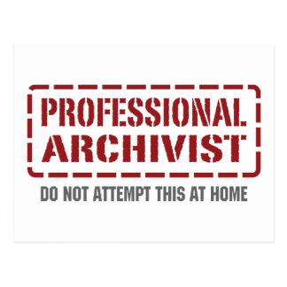 Archiviste professionnel carte postale