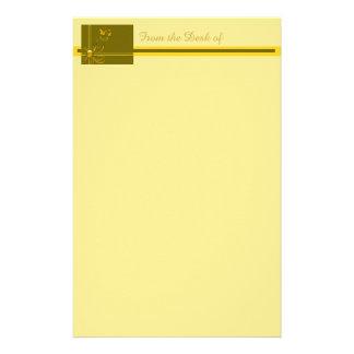 Arcs de papillon 2 papier à lettre personnalisable