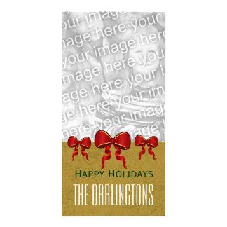 Arcs de rouge de GROUPON et Noël V11 d or Joyeux Photocartes