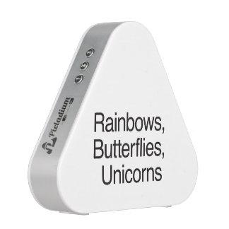 Arcs-en-ciel papillons licornes haut-parleur bluetooth