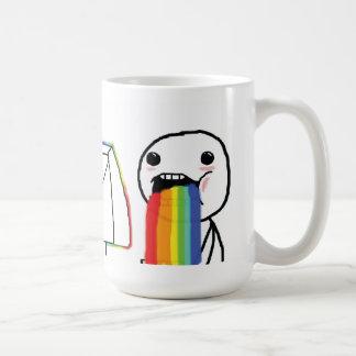 Arcs-en-ciel vomissants mug
