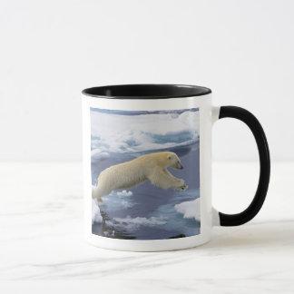 Arctique, le Svalbard, ours blanc se prolongeant Mug