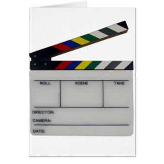 Ardoise de cinéaste de film de bardeau carte de vœux
