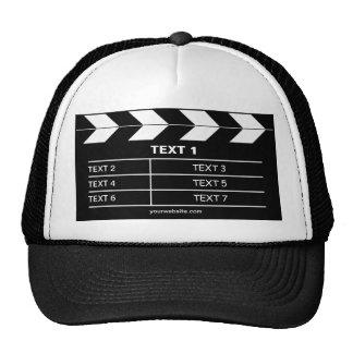 Ardoise de film casquettes de camionneur