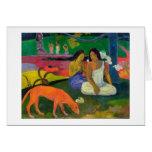 Arearea (le chien rouge), 1892 carte de vœux