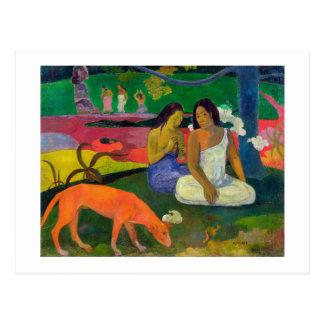 Arearea (le chien rouge), 1892 carte postale