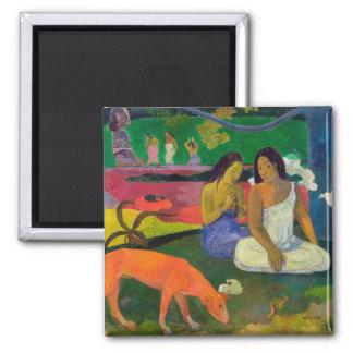 Arearea (le chien rouge), 1892 magnet carré