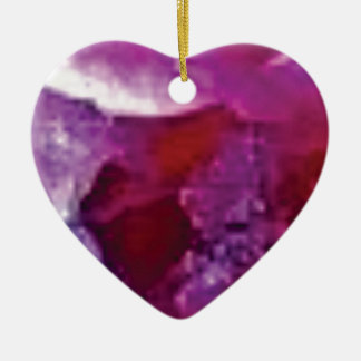 arête rose de roche ornement cœur en céramique