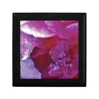 arête rose de roche petite boîte à bijoux carrée