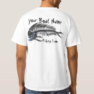 Arêtes de poisson personnalisées de Mahi de nom de T-shirt