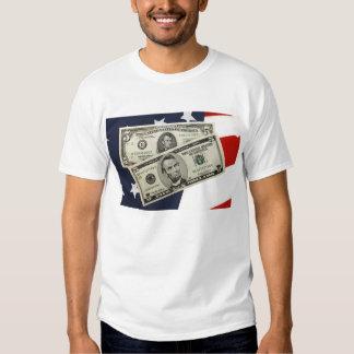 Argent américain et le T-shirt des hommes de