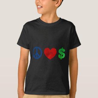 Argent d'amour de paix t-shirt