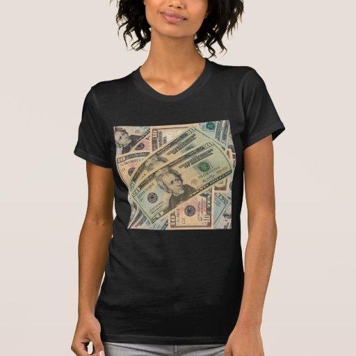 Argent d'argent liquide t-shirts