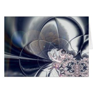 Argent d'art abstrait de carte et perles roses