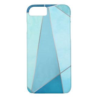 Argent de Faux et géométrique bleu Coque iPhone 7