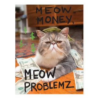 Argent de Meow, Meow Problemz Carte Postale