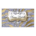 Argent d'or de zèbre de carte de visite de bijoux