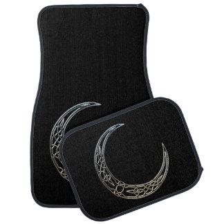 Argent et croissant de lune de Celtic de noir Tapis De Sol