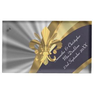 Argent et gold fleur de lys porte-photos