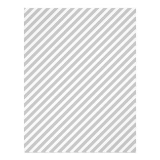 Argent et rayures diagonales blanches de sucrerie prospectus 21,6 cm x 24,94 cm