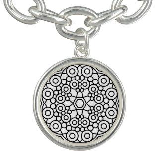Argent jevelry avec l'art de mandala bracelets