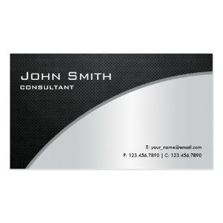 Argent moderne élégant professionnel de réparation cartes de visite personnelles