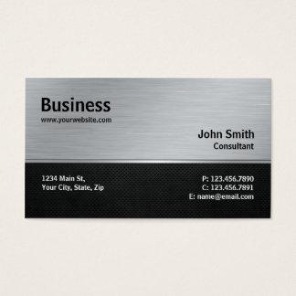 Argent moderne élégant professionnel et métal noir cartes de visite