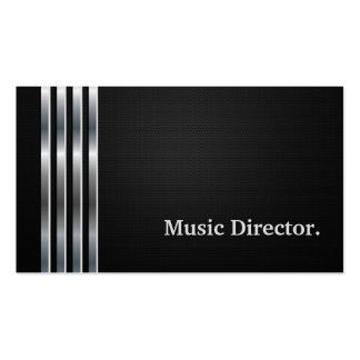 Argent noir professionnel de directeur musical carte de visite standard