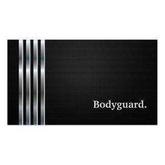 Argent noir professionnel de garde du corps cartes de visite personnelles