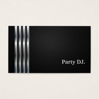 Argent noir professionnel du DJ de partie Cartes De Visite