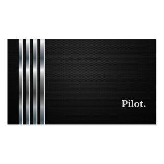 Argent noir professionnel pilote carte de visite standard