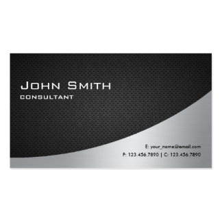 Argent noir simple moderne élégant professionnel carte de visite standard