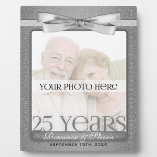 Argentez le 25ème cadre de photo de l'anniversaire plaque d'affichage