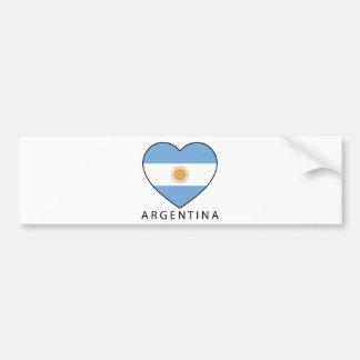 Argentina Heart drapeau Soccer Autocollants Pour Voiture