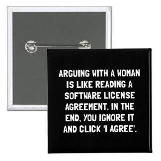 Argumentation de la femme badge