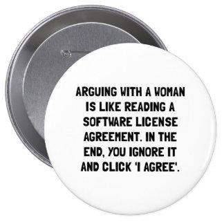 Argumentation de la femme pin's