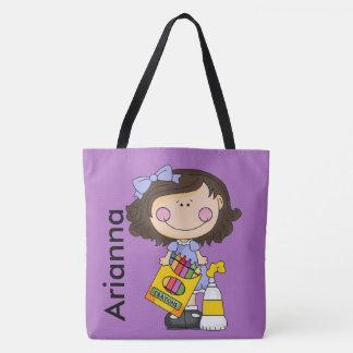 Arianna aime des crayons sac