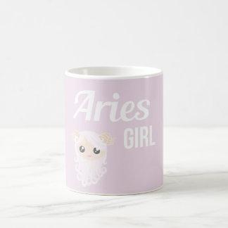 Aries Girl Mug Blanc