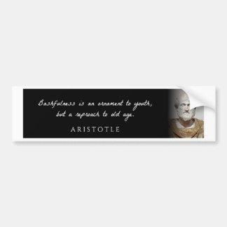 Aristote - la timidité est un ornement à mais… autocollant de voiture