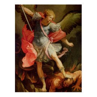 Arkhangel Michael défaisant Satan Carte Postale