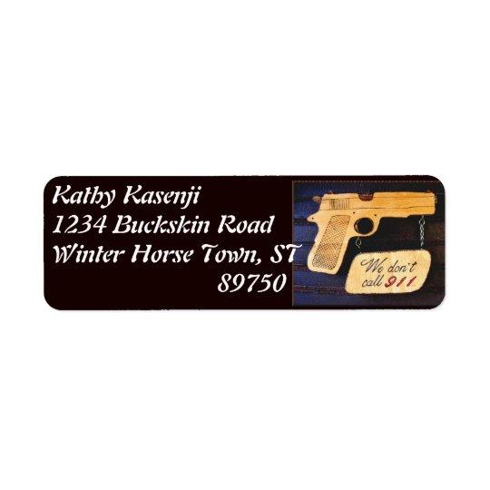 Arme à feu étiquette d'adresse retour