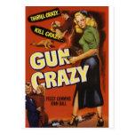 Arme à feu folle cartes postales
