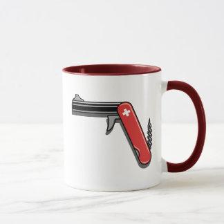 Arme à feu suisse d'armée mug