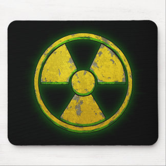 Arme nucléaire jaune tapis de souris