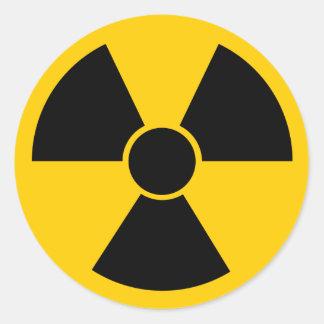 Arme nucléaire noire sticker rond