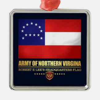 Armée de la Virginie du nord (F10) Ornement Carré Argenté