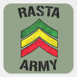 Armée de Rasta Sticker Carré